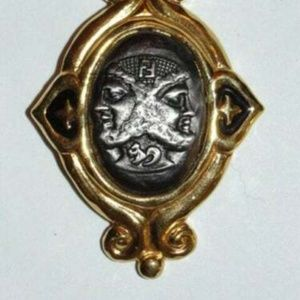 Rare Fendi Bacchus Dionysus Pin